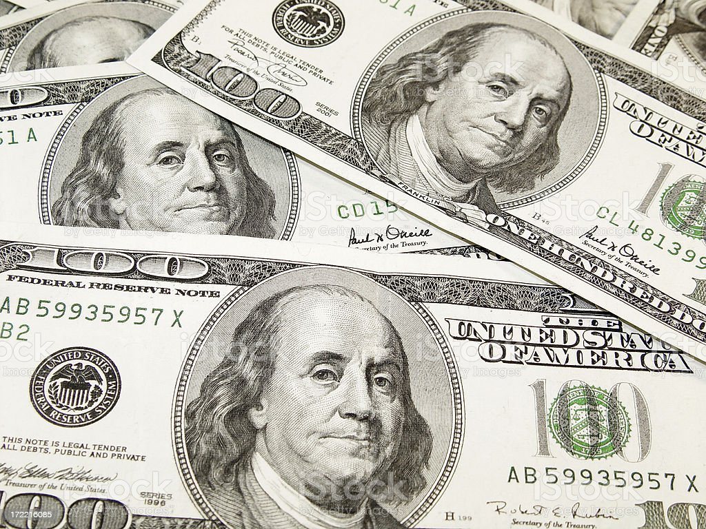 Benjamins stock photo