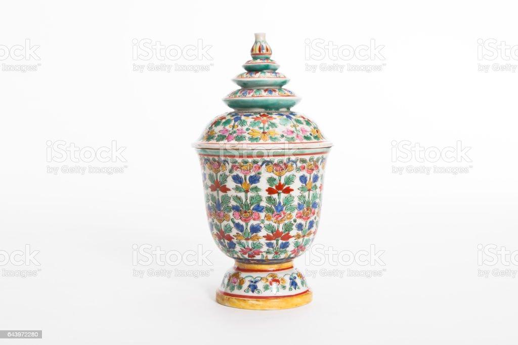 Benjarong ceramics stock photo