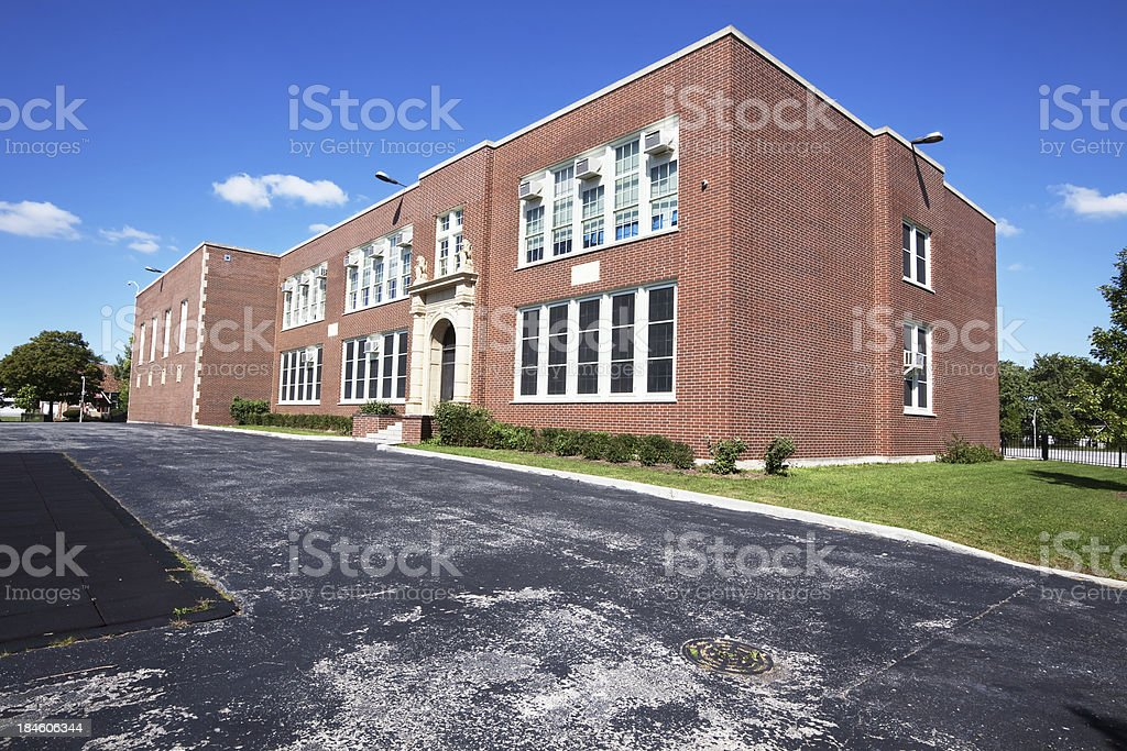 Bennett Elementary School in Roseland, Chicago royalty-free stock photo