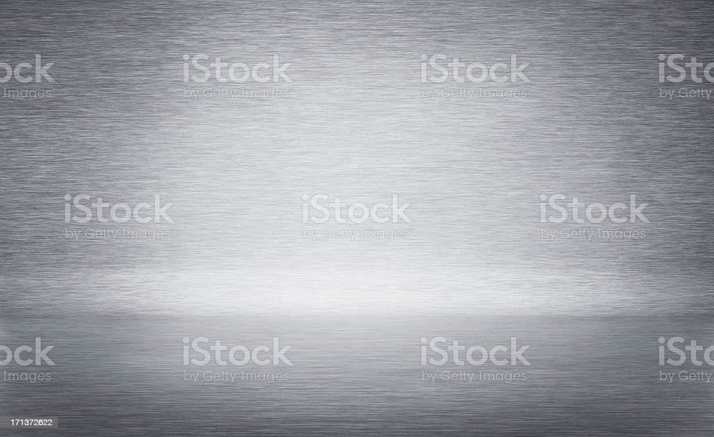 bent brushed metal background stock photo