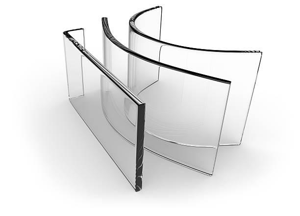 Bent glass stock photo