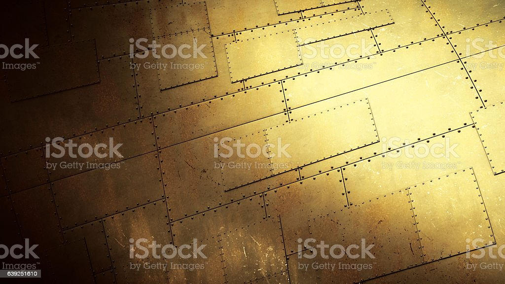 Bent Industrial Metallic Surface stock photo