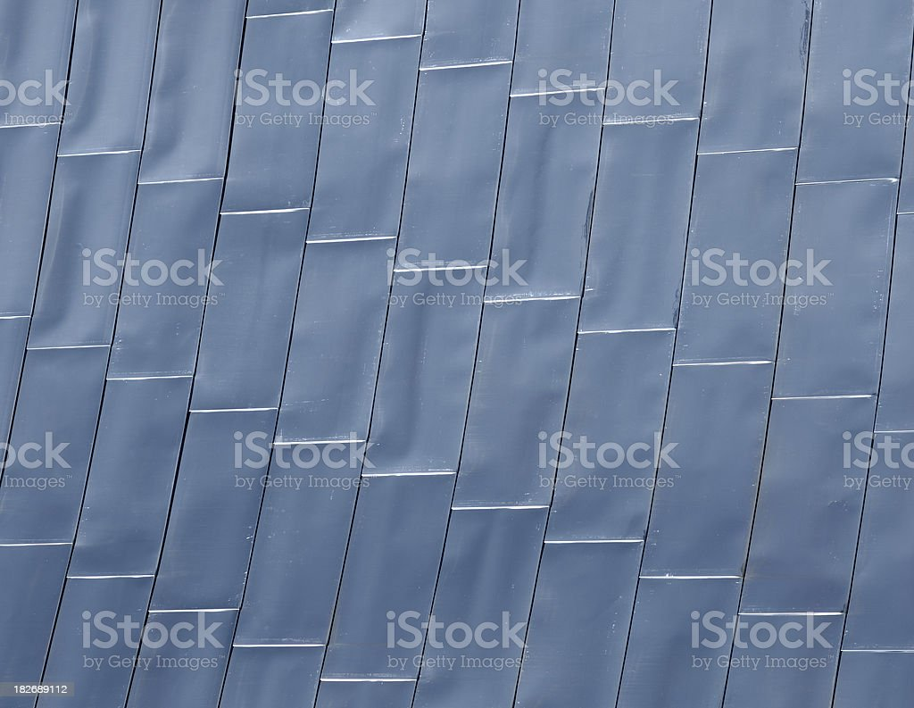 Bent metal panals stock photo