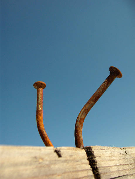 Bent Nails  tetanus stock pictures, royalty-free photos & images