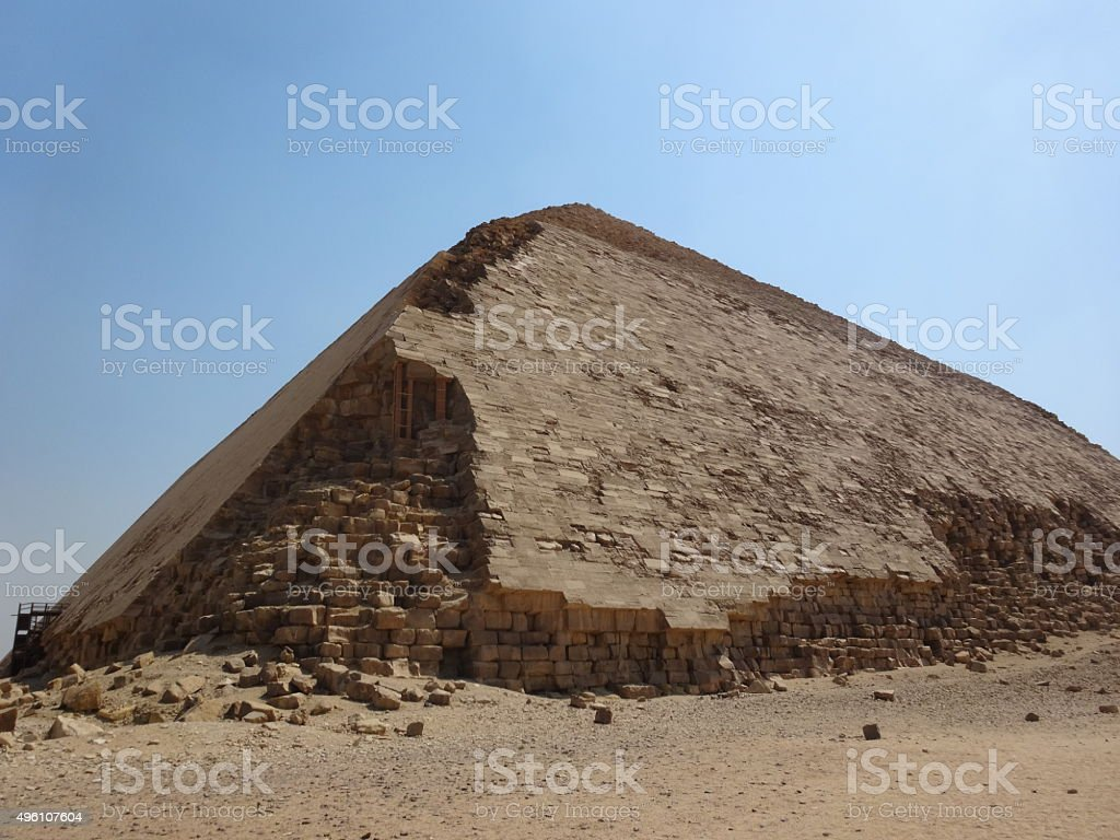 Bent Pyramid in Egypt stock photo