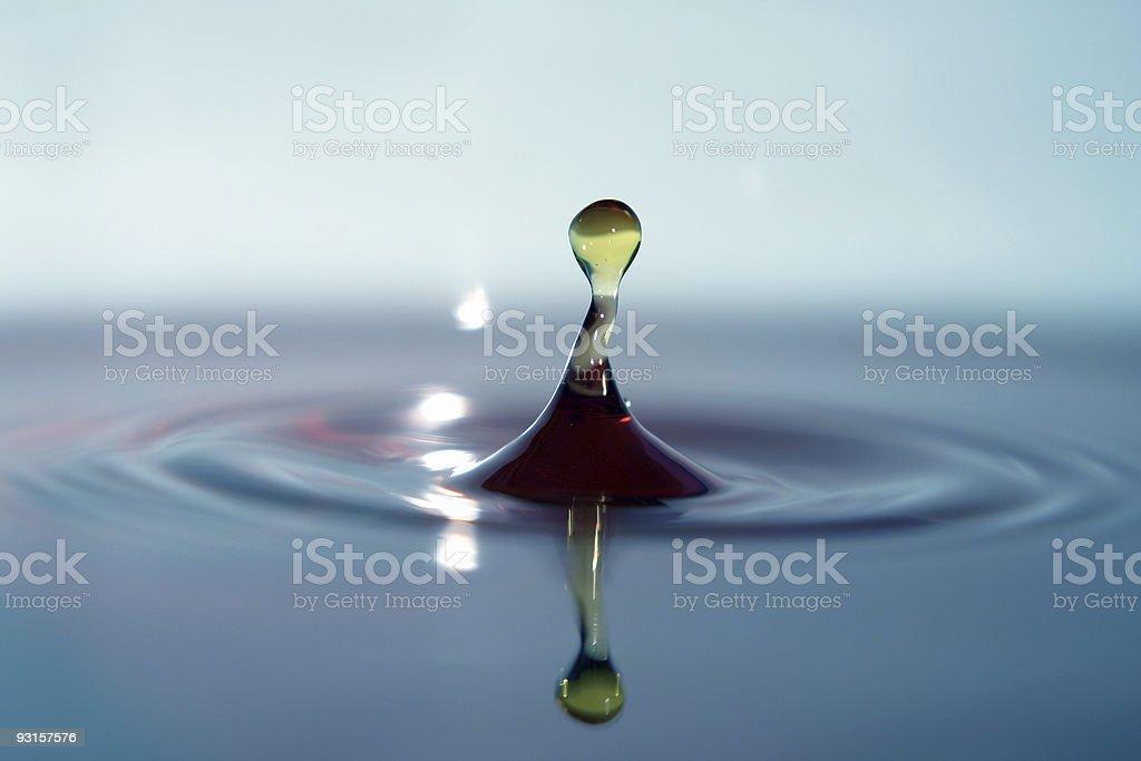 Bent Water Drop stock photo