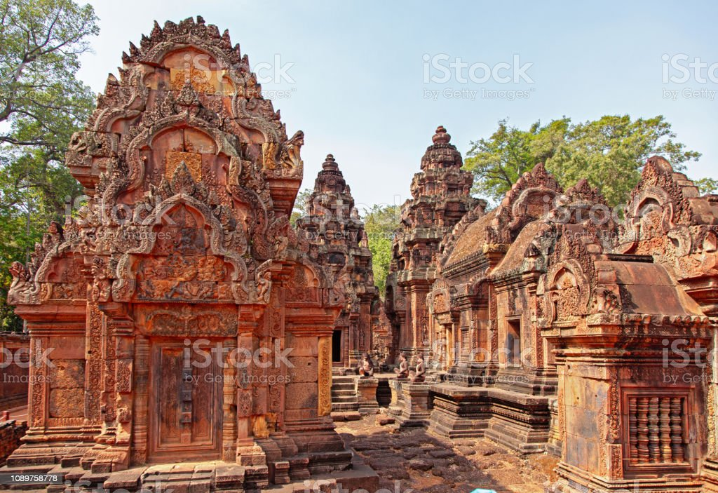 Benteay Srei Temple, Cambodia stock photo