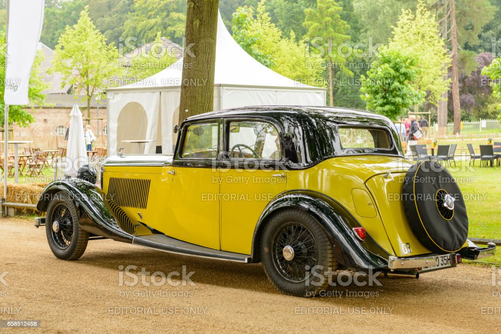 Bentley 3.5 L Parkward sports saloon 1934 vintage classic stock photo