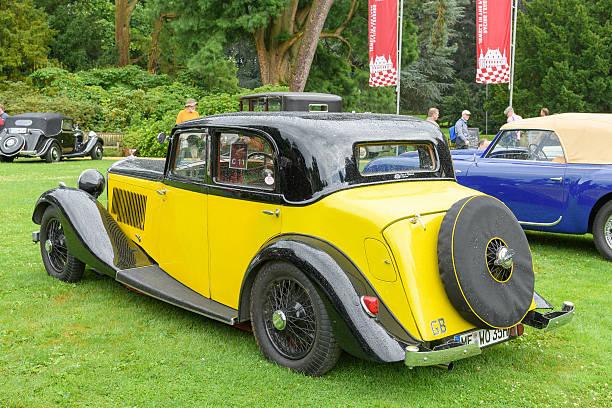 Bentley 3.5 litre Park Ward Sports Saloon 1934 vintage car - foto stock