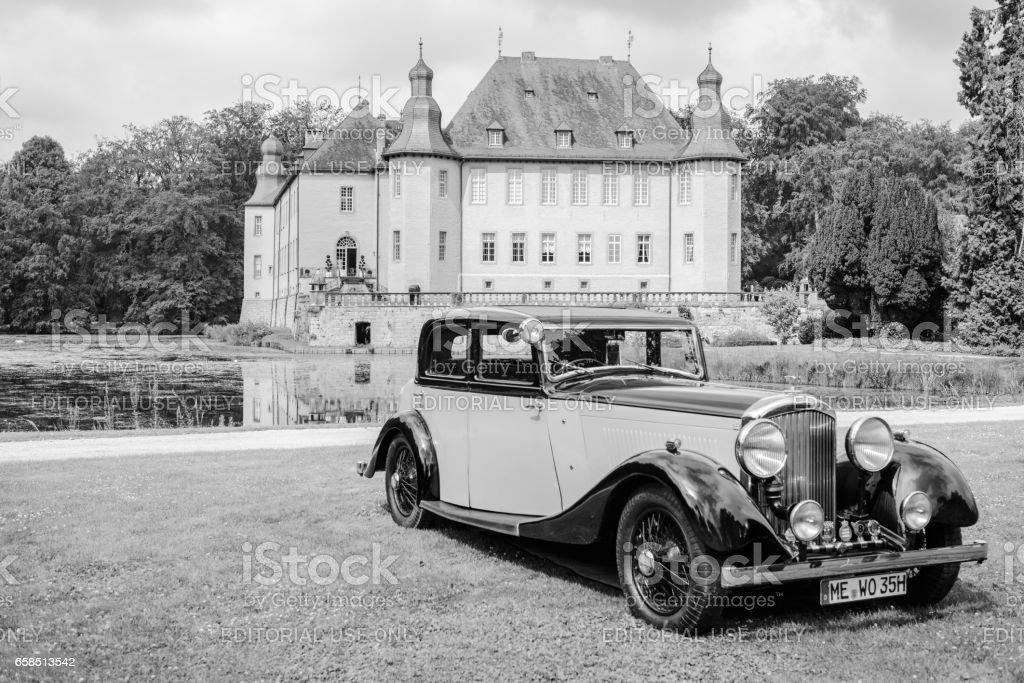 Bentley 3.5 litre Park Ward Sports Saloon 1934 vintage car stock photo