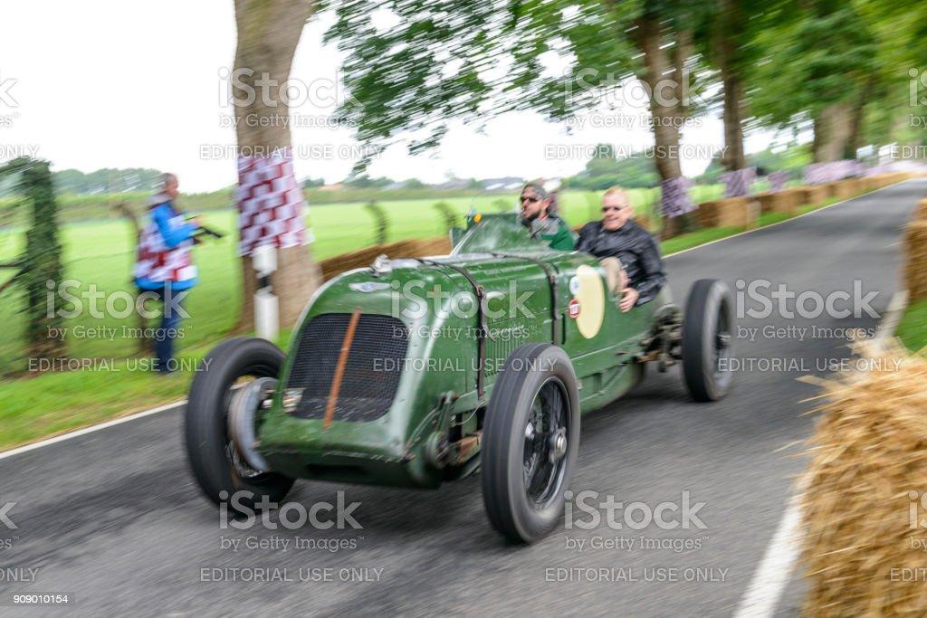 Bentley 8 litre Brooklands racer British vintage race car stock photo