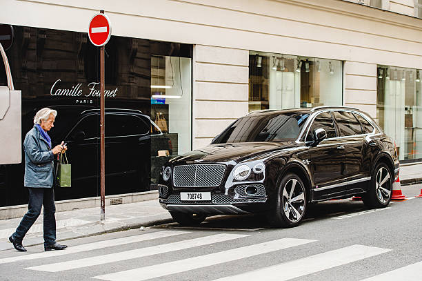 Bentley Bentayga on Paris Streets stock photo