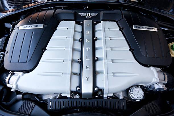 Bentley Continental Engine stock photo