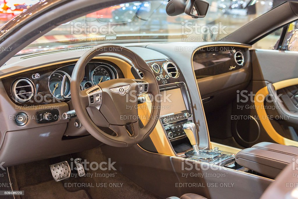 Bentley Continental Gt Speed Sports Car Interior Stock Photo More