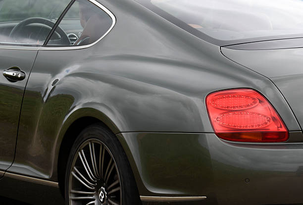 Bentley Continental GT sports car detail stock photo