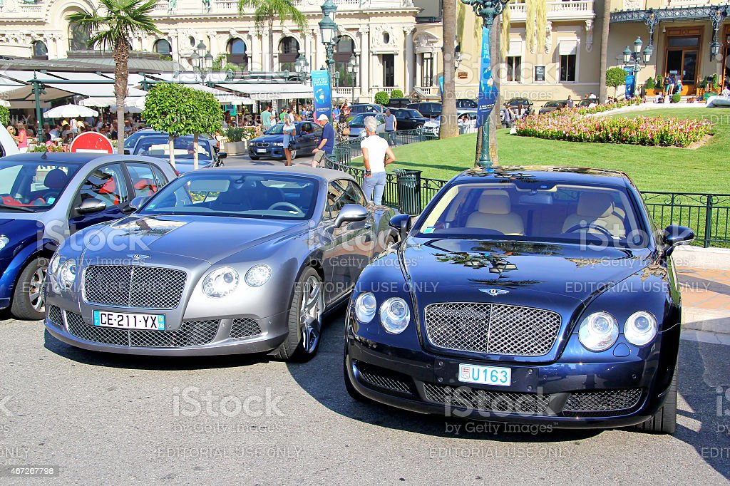 Bentley Continental GTC and Bentley Continental Flying Spur stock photo