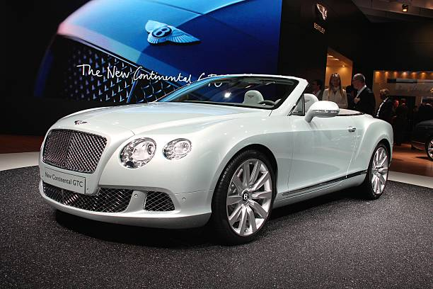 Bentley Continental GTC on the motor show stock photo