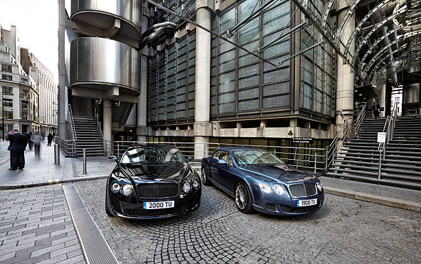 Bentley Continentals At Lloyds. stock photo