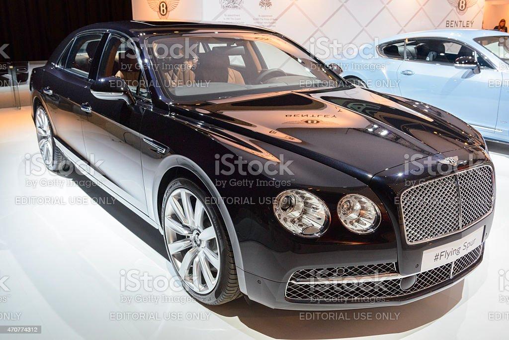 Bentley Flying Spur luxury sedan stock photo