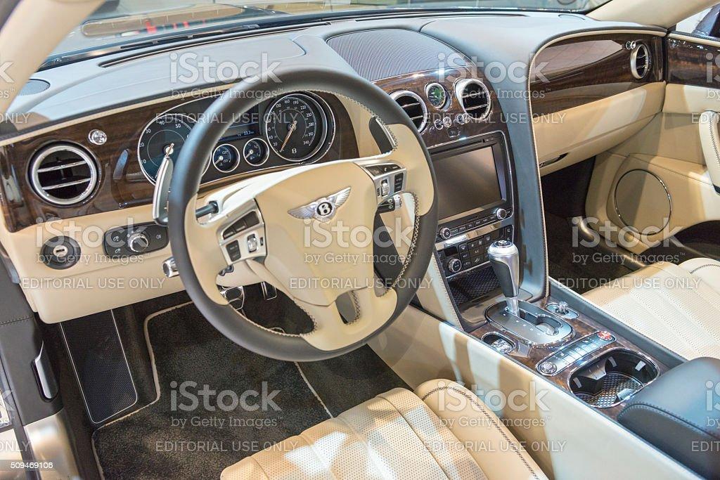 Bentley Flying Spur V8 Luxury Sedan Interior Stock Photo More