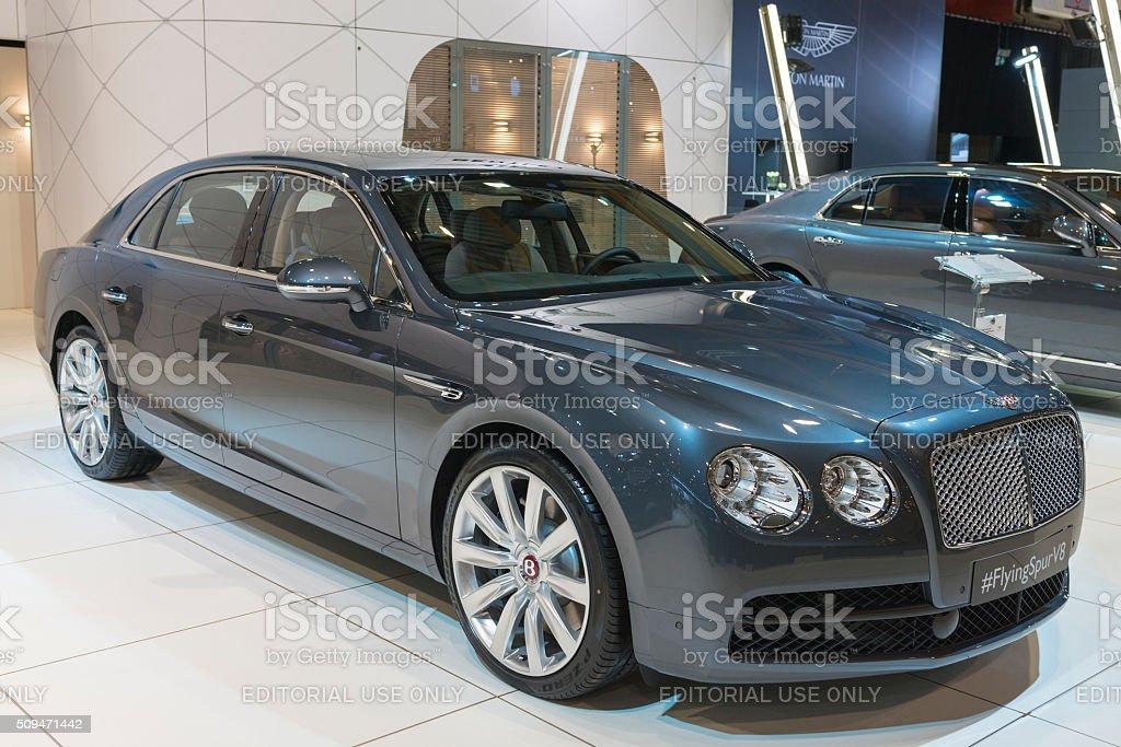 Bentley Flying Spur V8 luxury sedan stock photo
