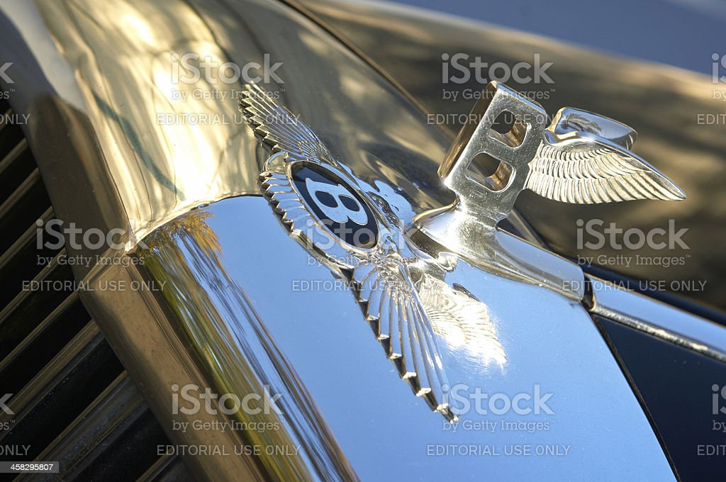 Bentley Insignia and Hood Ornament stock photo