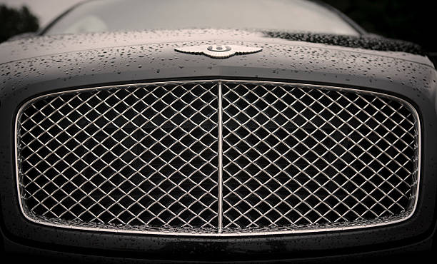 Bentley marque and grille stock photo