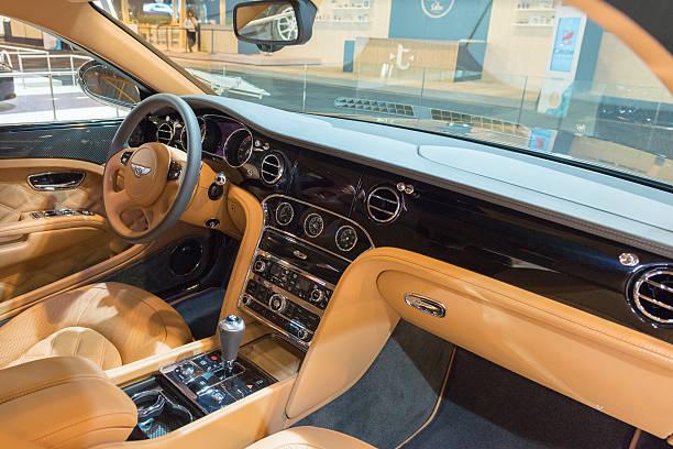 Bentley Mulsanne Speed luxury sedan interior stock photo