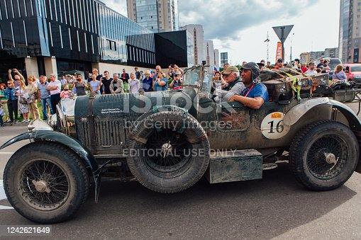 Novokuznetsk, Russia, 14 June 2019: The 7th Peking to Paris Motor Challenge is unique in the motoring world a true endurance motor rally following in the wheel-tracks of the original pioneers of 1907