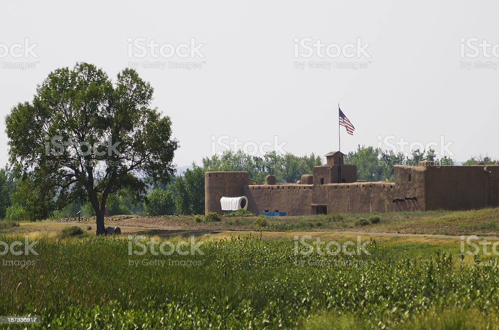 Bent's Old Fort National Historic Site royalty-free stock photo