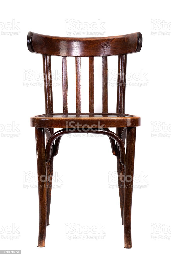 bent-wood chair royalty-free stock photo