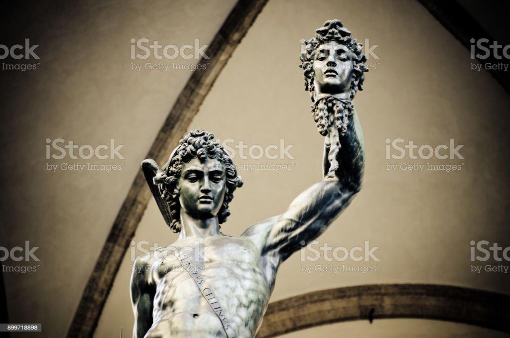 Benvenuto Cellini Statue Of Perseus Holding The Head Of