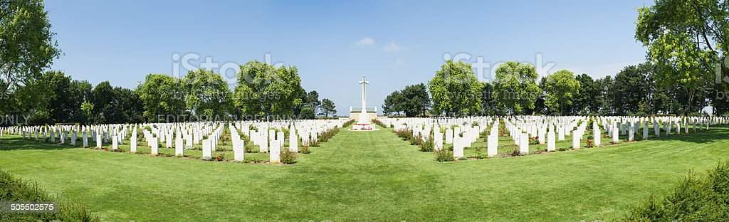 Beny Sur Mer Canadian War Cemetery stock photo