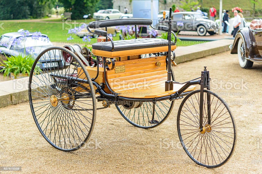Benz Patent Motorwagen 1886 The Worlds First Automobile Stock Photo ...