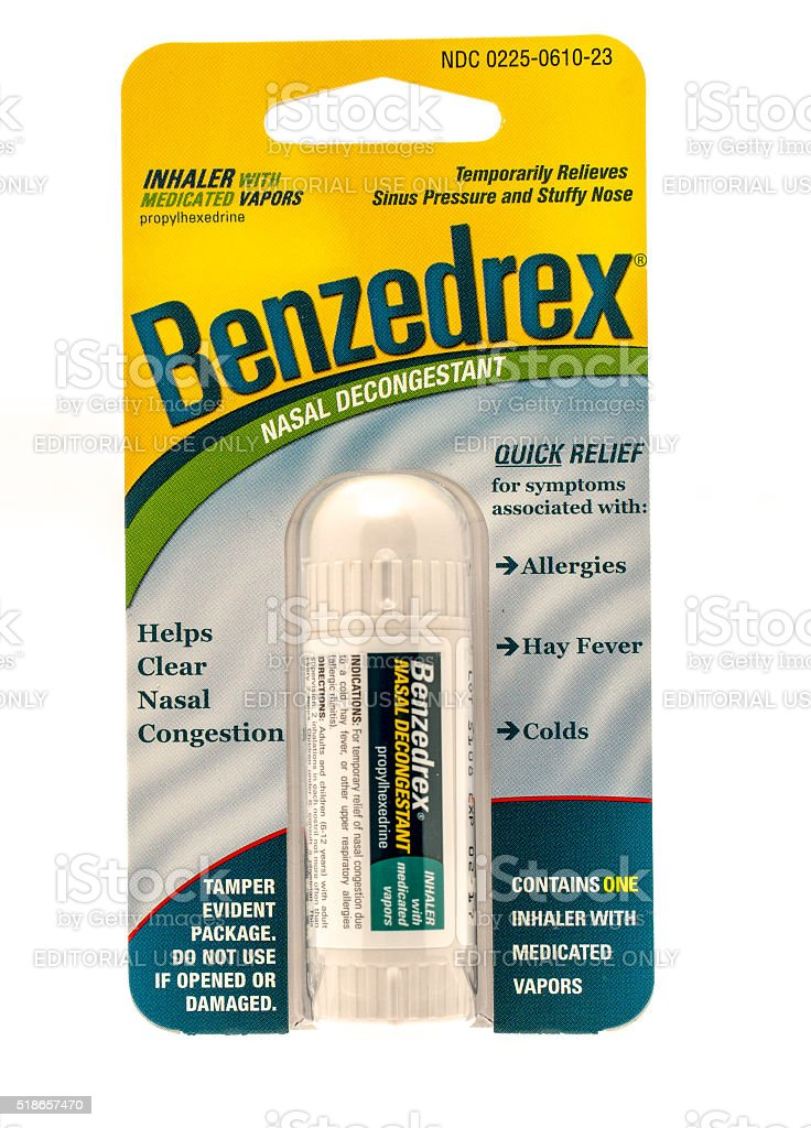 Benzedrex stock photo
