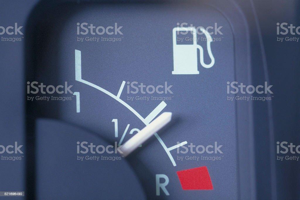 benzine meter car stock photo