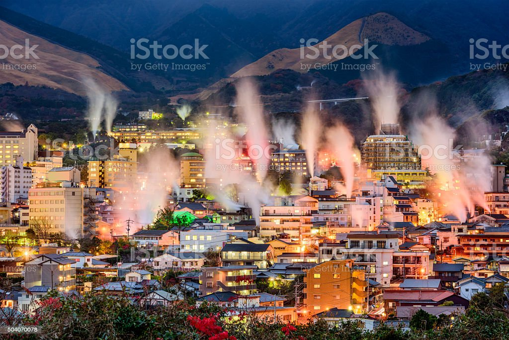 Beppu, Japan Onsens stock photo