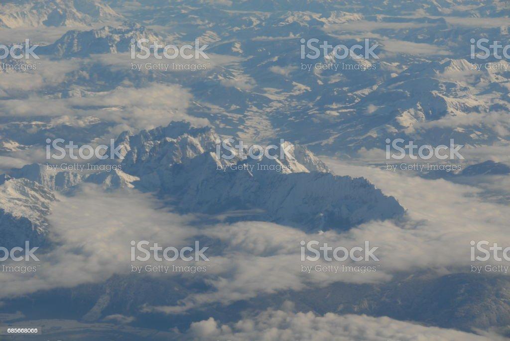 Über den Wolken in Europa foto de stock royalty-free