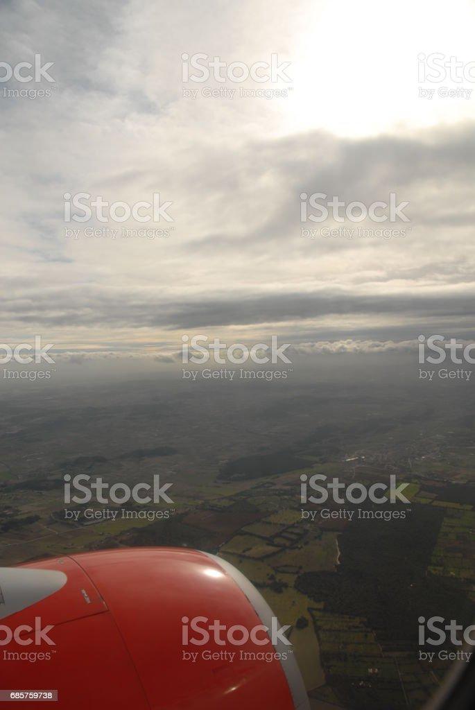 Über den Wolken in Europa / Spanien-Mallorca foto stock royalty-free