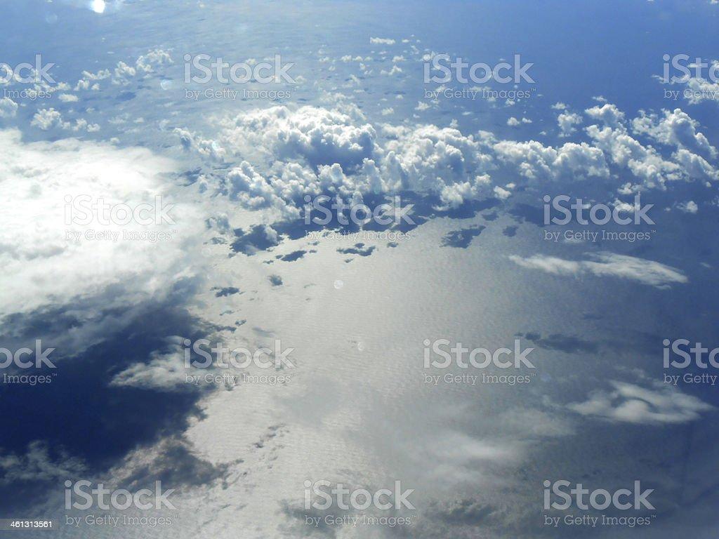 über den Wolken stock photo
