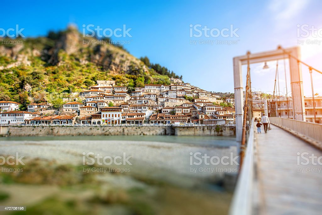Berat city stock photo