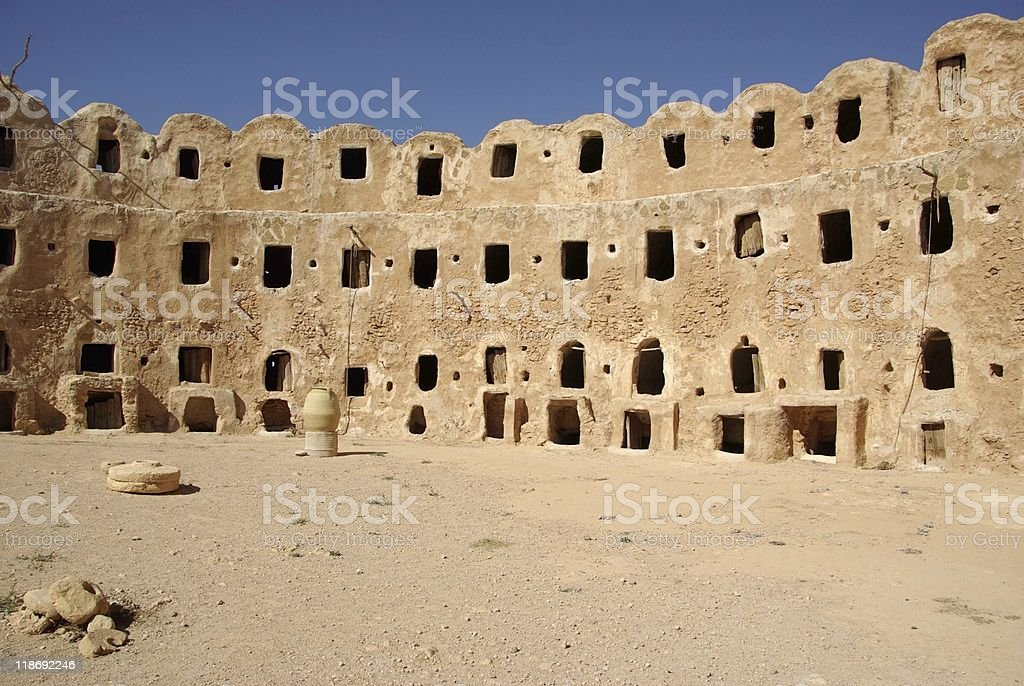 Berber granary, Libya royalty-free stock photo