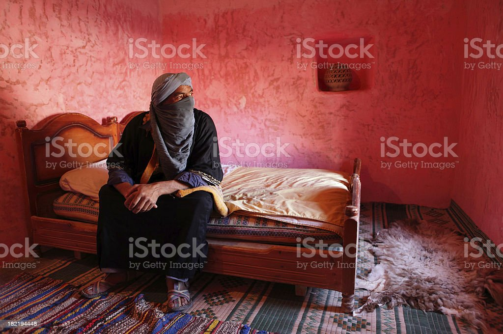 Berber in His House royalty-free stock photo