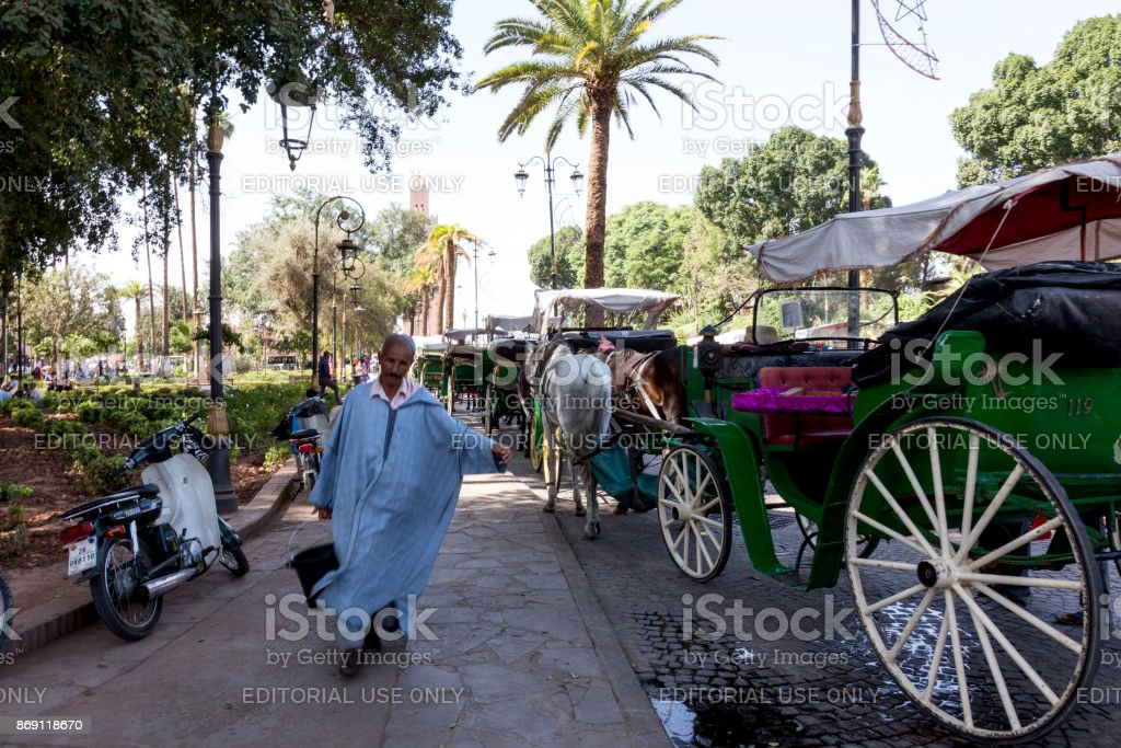 Berber man in Marrakesh stock photo