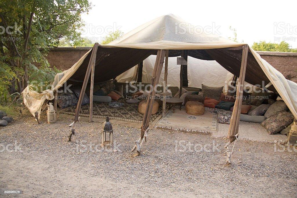 Bereber tent Marrakech Marruecos foto de stock libre de derechos