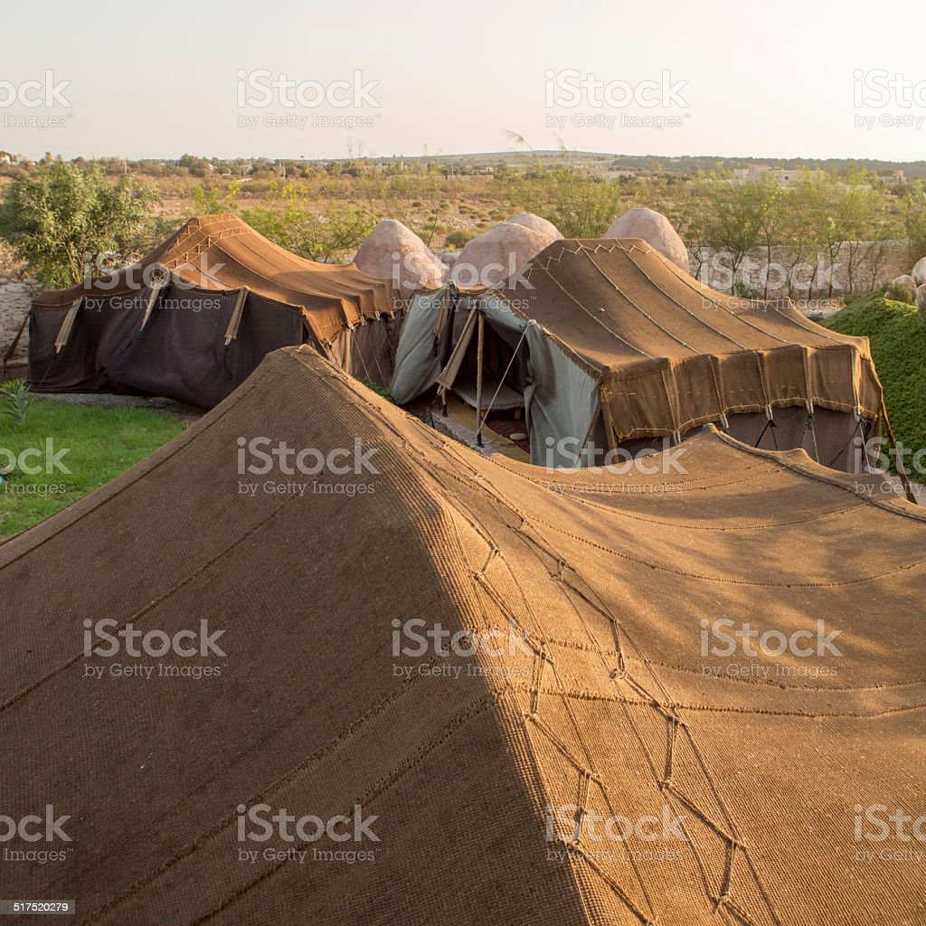 Camp of Bedouin tents in Essaouira in Morocco