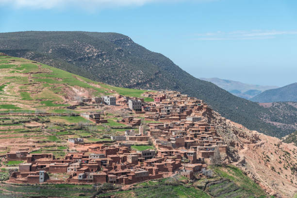 Berber Village in the valleys of the High Atlas Mountains in Morocco – zdjęcie