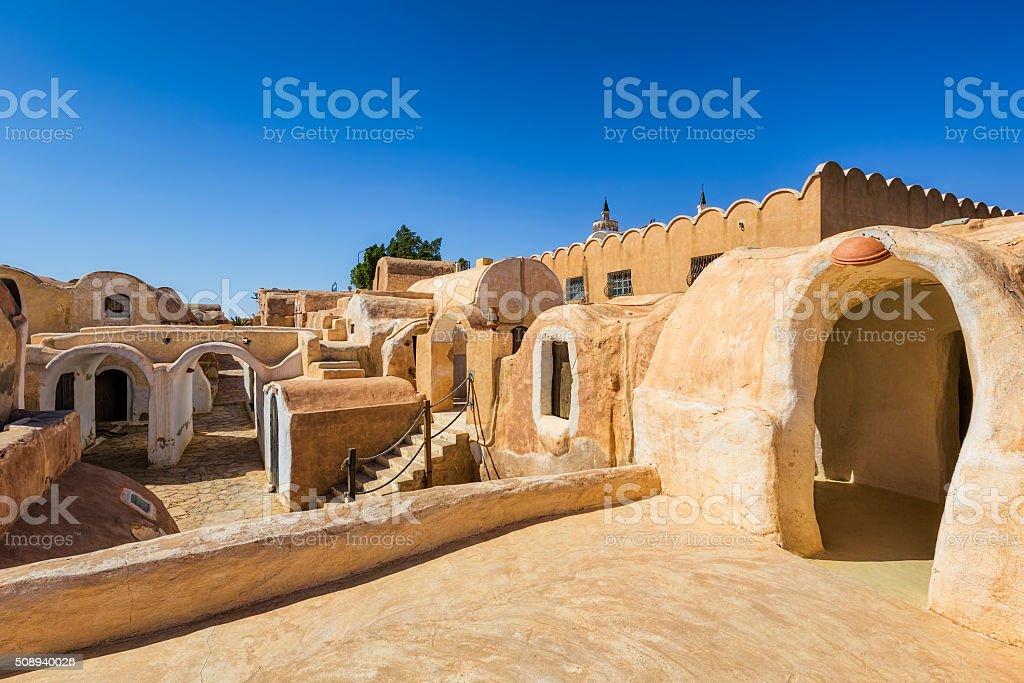 Berber village Ksar Haddada , Tataouine Governorate / Tunisia stock photo