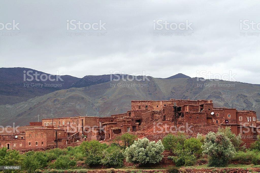 Berber village stock photo