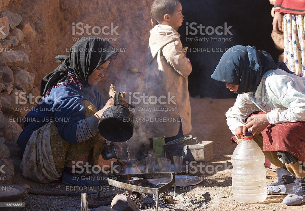 Berberowie kobieta co Herbata – zdjęcie